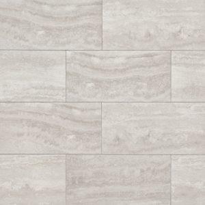 """Phoenix 12""""x24"""" Floor & Wall Tile in Silver"""