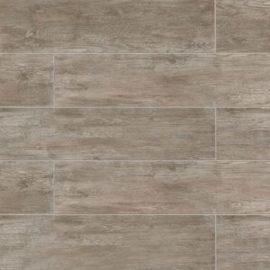 "River Wood 8""x36"" Floor & Wall Tile in Taupe"