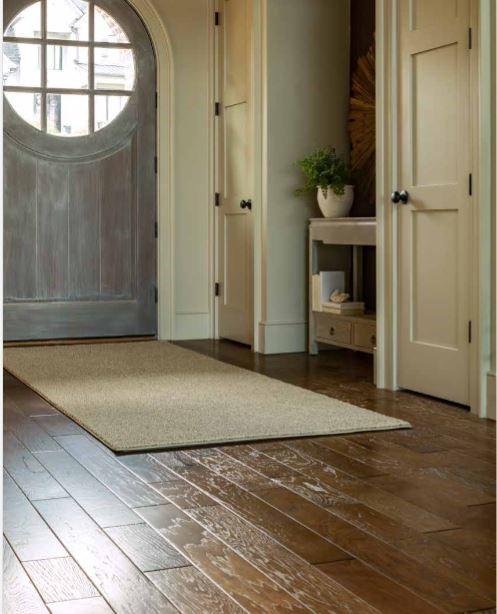 Rug in entryway