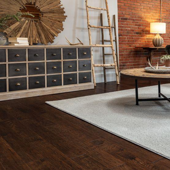 Dark Hardwood in Family Room